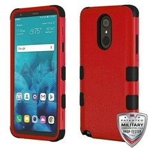 Natural Red/Black TUFF Hybrid Phone Cover for LG Stylo 4 Plus/Stylo 4 - $12.23