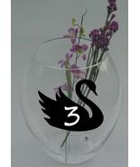 "Swan Chalkboard Vinyl Label Sticker Decals 4""h x 5""w ea. (Quantity 12) - $17.99"