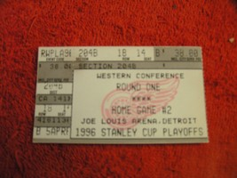 NHL 1996 DETROIT RED WINGS STANLEY CUP PLAYOFF Western Conf Round 1 Tick... - $3.99