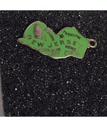 Sterling Silver Enameled Green New Jersey Detailed Charm - $10.40
