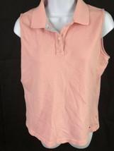 Tommy Hilfiger Womens Tank Top Pink L Flag - $14.84