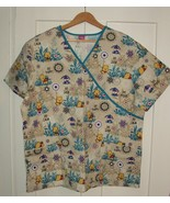 Be Calm, Be Happy, Be Zen Print  Size XL  Women's Scrub Top  by Disney      - $7.99