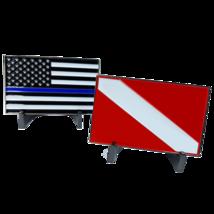 THIN BLUE LINE POLICE RESCUE DIVER SCUBA CHALLENGE COIN - $23.74