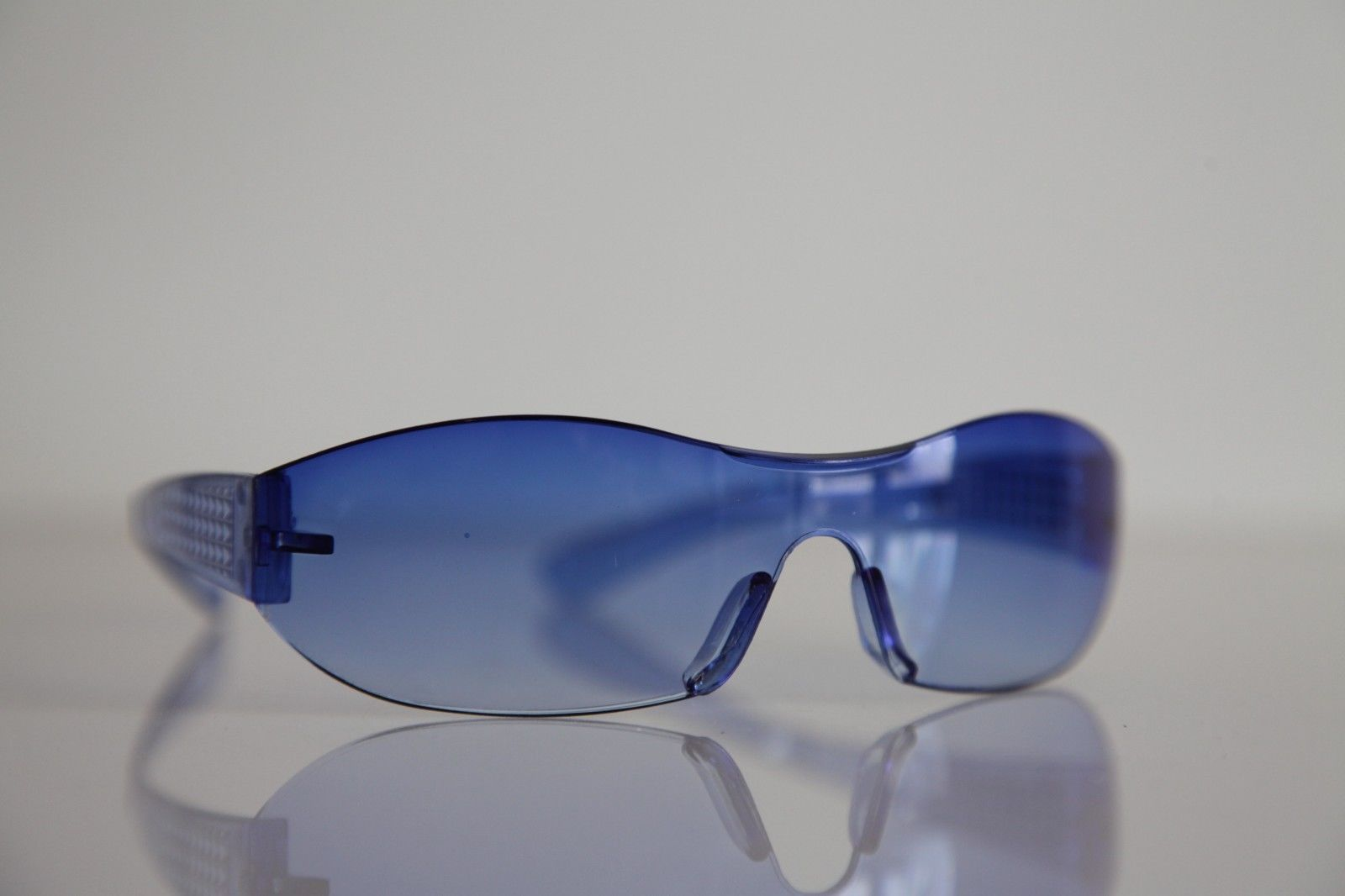 Electric Blue Rimless Sunglasses - Sunglasses