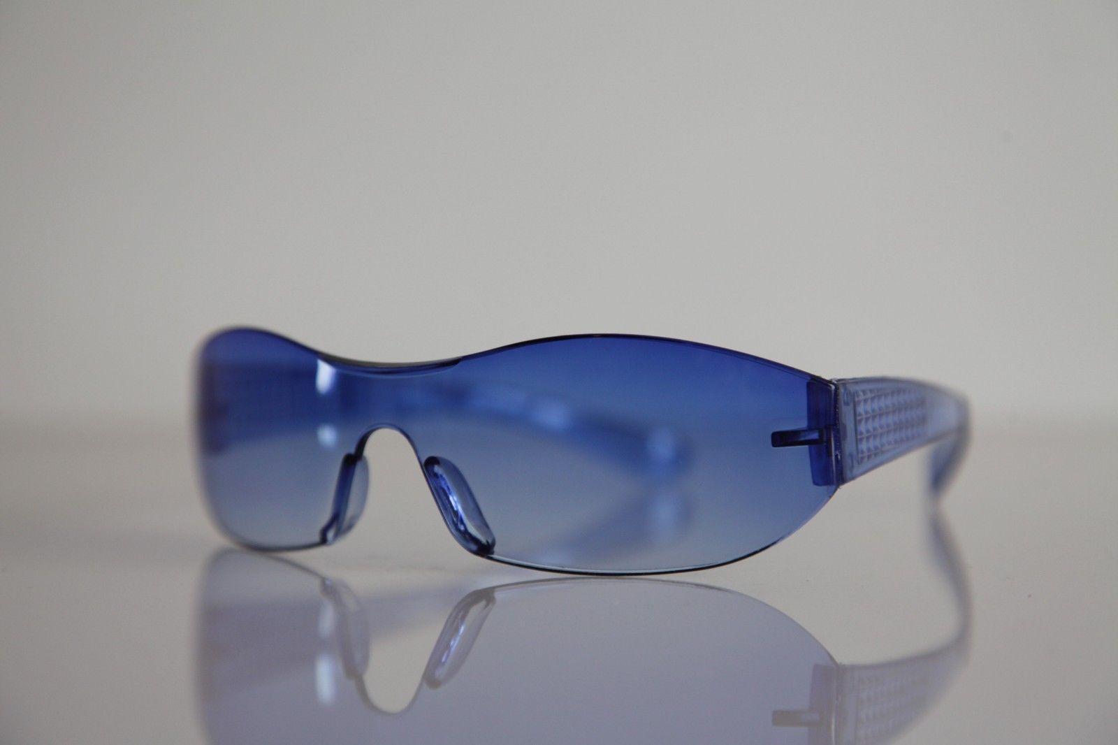 Electric Blue Rimless Sunglasses - Sunglasses