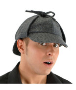 Sherlock Holmes Victorian Polyester Costume Accessory Deerstalker Hat NE... - $19.34