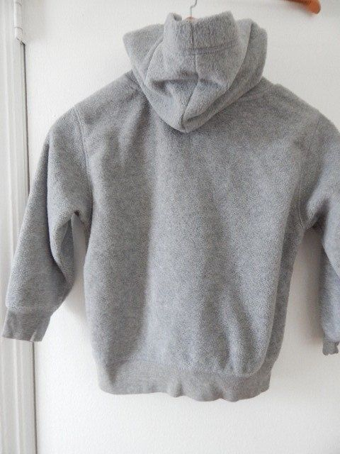 Gre  Boy's Kids GAP Kids Fleece Kangaroo Pocket Hoodie Jacket Size 4- 5 XS EUC