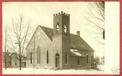Fayette Ohio Postcard Church of Christ RPPC Kruxo BJs