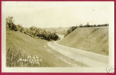 MANCELONA MICHIGAN M-66 HWY ROAD RPPC MI