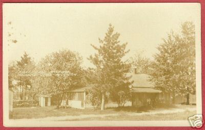 HOUGHTON LAKE MI Fisherman's Paradise Cottage RPPC 1928