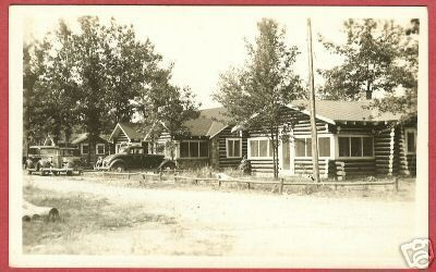 HOUGHTON LAKE MI Ford's Cabins Cars RPPC Michigan