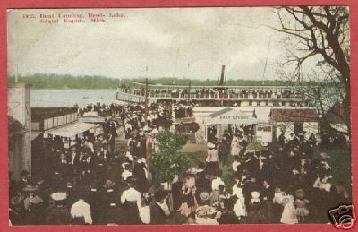 Primary image for Grand Rapids MI Reeds Lake Boat People 1909 Postcard BJ
