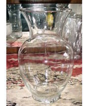 """Large Clear Ginger Jar Vase; Ideal For Tall Flowers 11"""" X 5"""" Rim Opening Indiana - $34.99"""