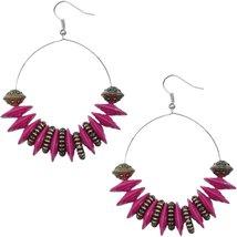 Pink Large Disk Hoop Earrings - $13.80