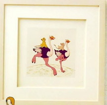 Lion King Simba  Nala Ostrich Ride Disney Framed Art - $195.00