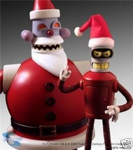 Futurama Robot Santa Bender 2  Action Figures Two Pack Comic Con 08 SDCC  - $199.99