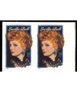 3523a, 34c LUCILLE BALL - IMPERFORATE PAIR - SELDOM OFFERED ERROR - Stua... - $695.00