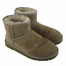 UGG Women's US Size 7 3060 Beige Sheepskin Mini Kimono Ankle Boots Leath... - $27.46