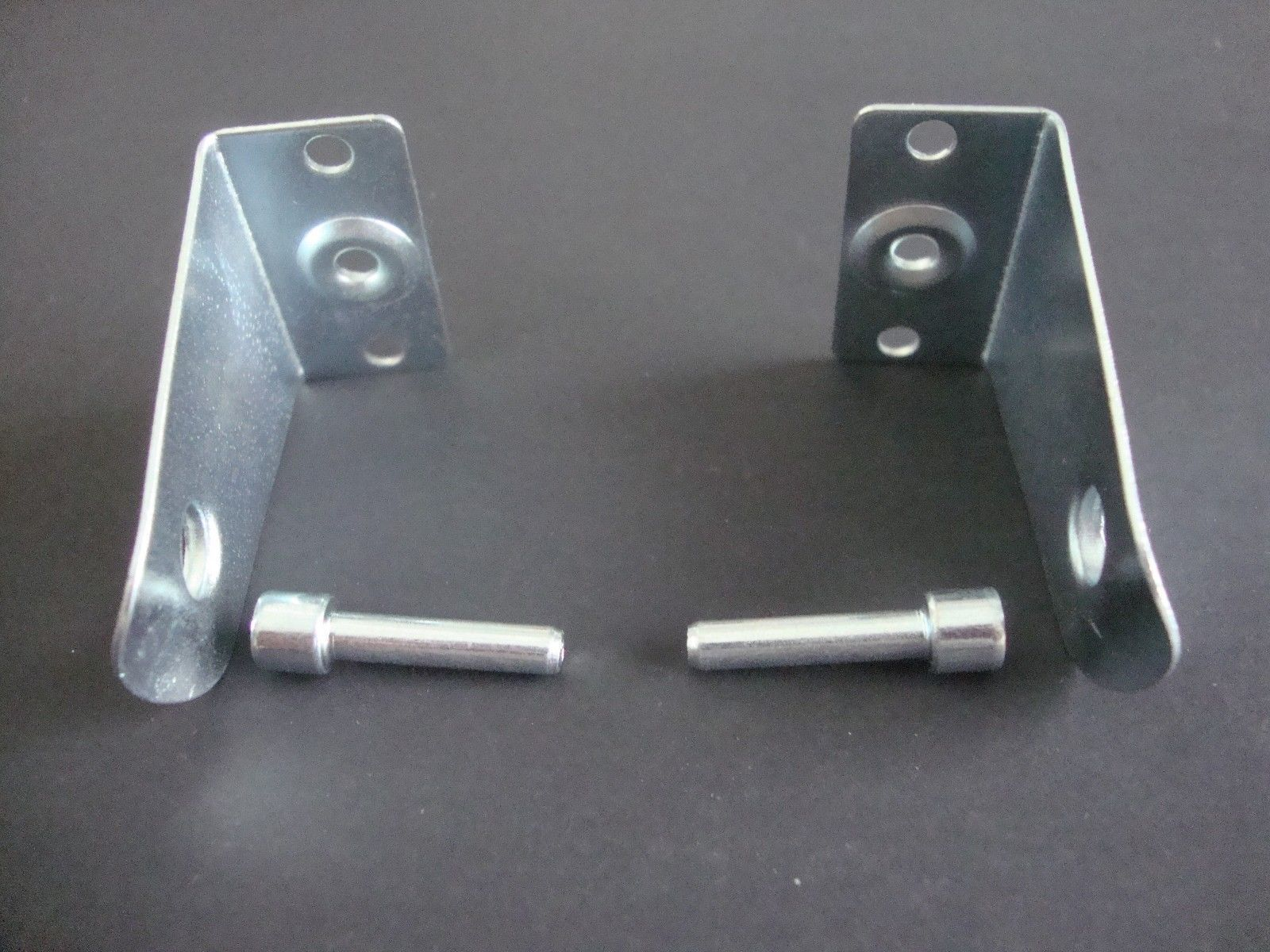 2 Pair Metal Hold Down Brackets With Pins For 2