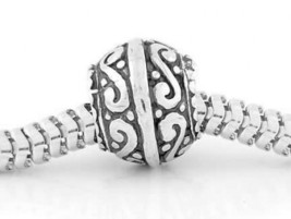 AUTHENTIC STERLING SILVER ZABLE SPACER EUROPEAN BEAD - $22.40