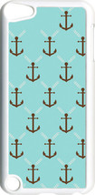 Aqua and Brown Faith Anchor Design on iPod Touch 5th Gen 5G White TPU Ca... - $9.46