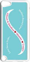 Baby Blue & White Mother's Love w/ Three Red Names on iPod Touch 5th Gen... - $11.95