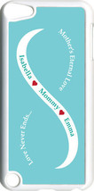 Baby Blue & White Mother's Love w/ Two Teal Names on iPod Touch 5th Gen ... - $11.95