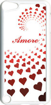 "Graduating Red Hearts with ""Amore""  iPod Touch 5th Gen 5G White TPU Case... - $9.46"