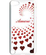 """Graduating Red Hearts with """"Amore""""  iPod Touch 5th Gen 5G White TPU Case... - $9.46"""
