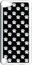 Black and White Paws Collage Design on iPod Touch 5th Gen 5G White TPU Case - $9.46