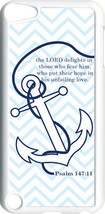 Chevron Faith Anchor with Psalm 147:11 on iPod Touch 5th Gen 5G White TP... - $9.46