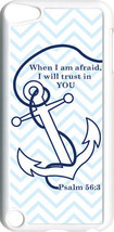 Chevron Faith Anchor with Psalm 56:3 on iPod Touch 5th Gen 5G White TPU ... - $9.46