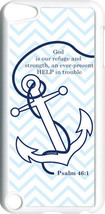 Chevron Faith Anchor with Psalm 46:1 on iPod Touch 5th Gen 5G White TPU ... - $9.46