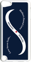 Navy Blue & White Mother's Love with One Navy Name on iPod Touch 5th Gen... - $11.95