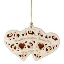 Lenox 2010 Together for Christmas Heart Ornament - $18.81
