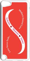 Orange & White Mother's Love with Red Names on iPod Touch 5th Gen 5G Case - $61.95