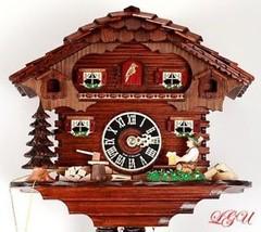 "Genuine 10"" Black Forest Cuckoo Clock 1 Day Chalet - £420.49 GBP"