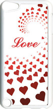 Graduating Red Hearts Love iPod Touch 5th Gen 5G on White TPU Case Cover - $9.46