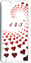 "Graduating Red Hearts with ""143""  iPod Touch 5th Gen 5G on White TPU Cas... - $9.46"