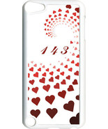 """Graduating Red Hearts with """"143""""  iPod Touch 5th Gen 5G on White TPU Cas... - $9.46"""