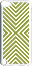 Green V Line Design on iPod Touch 5th Gen 5G White TPU Case Cover - $9.46