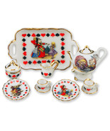 Dollhouse Tea Set/2 Alice in Wonderland 723618 ... - $37.47
