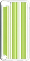 Green and White Lines Design on iPod Touch 5th Gen 5G White TPU Case Cover - $9.46
