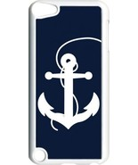 Large Navy Blue and White Faith Anchor on iPod Touch 5th Gen 5G White TP... - $9.46
