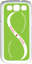 Light Green & White Mother's Love with Orange Names Samsung Galaxy S3 Case - $15.95