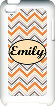 Monogrammed Multi Chevron Design on iPod Touch 4th Gen 4G TPU Hard Case - $15.95