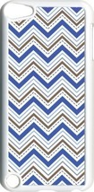 Multi Blue Chevron Design on iPod Touch 5th Gen 5G White TPU Case Cover - $9.46