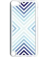 Multi Blue V Line Design on iPod Touch 5th Gen 5G White TPU Case Cover - $9.46