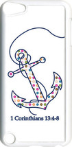 Multicolor Dot Anchor 1 Corinthians 13:4-8 iPod Touch 5th Gen 5G White T... - $9.46