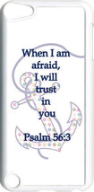 Multicolor Polka Dot Anchor Psalm 56:3 on iPod Touch 5th Gen 5G White TP... - $9.46